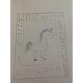 Ella's framed frost unicorn