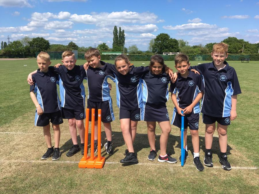 Working as a team in the cricket match