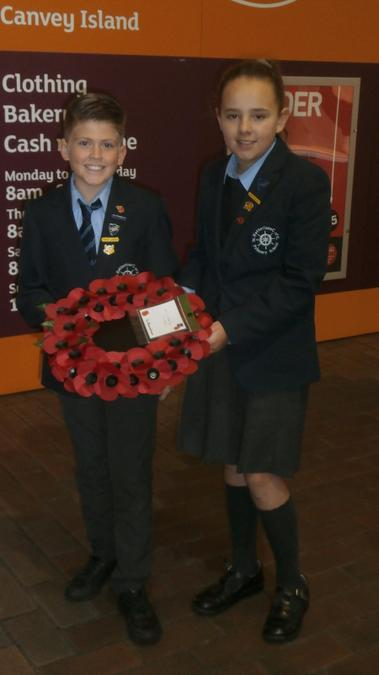 Remembrance Sunday representing the school