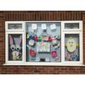 Brooke's window Easter garden display