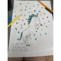 Evie-Rose's magical frost unicorn