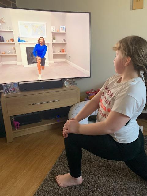 Exercise with Joe Wicks.