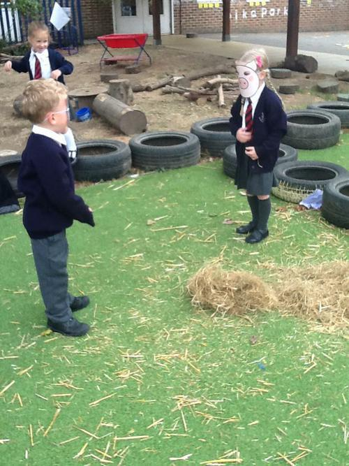 The first pig made his house of straw.
