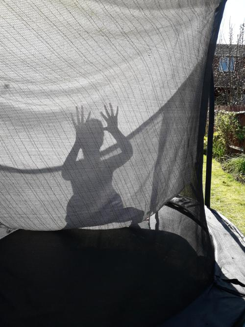 Shadow on the trampoline.