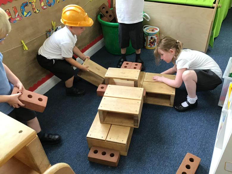 Building an aeroplane in our construction area.