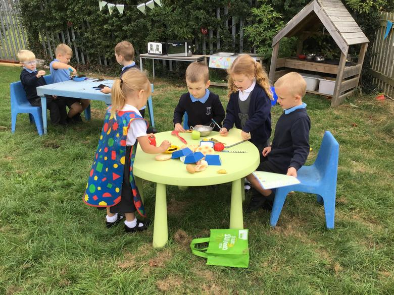Visiting our mud kitchen cafe