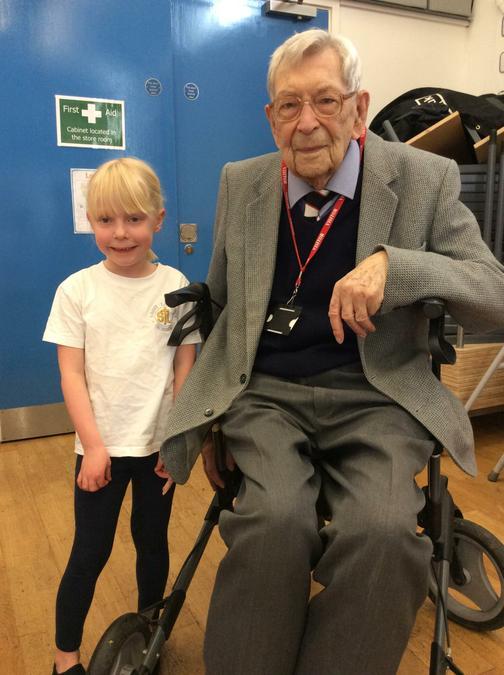 Bob and his great grandaughter!