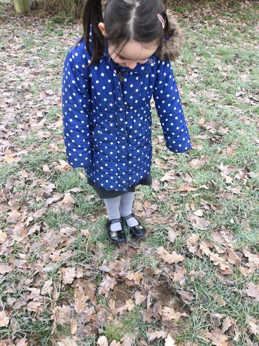 'Look I made footprints!'