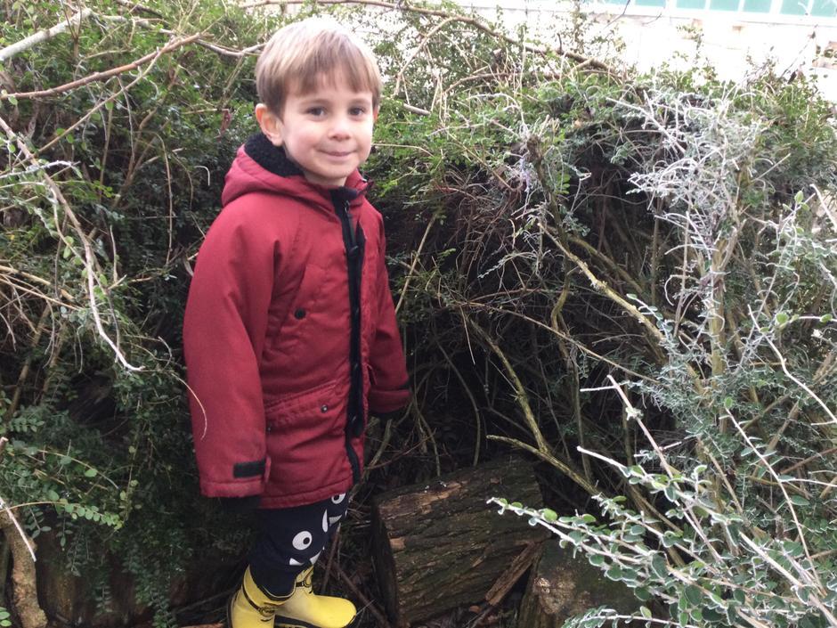 'I found a den to hide in!'