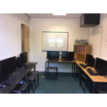 Temporary IT area until building work is complete
