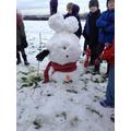 Our winning snowman
