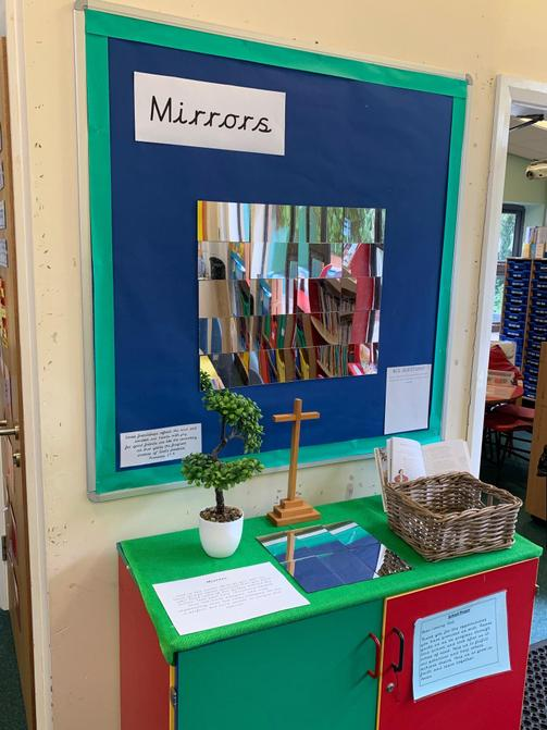 Our classroom prayer space