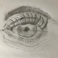 Mahjuba's eye drawing