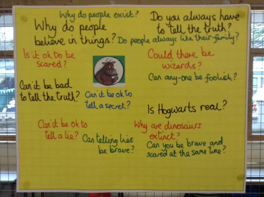 P4C questions raised by Y2 pupils