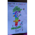 Sofia's writing and picture.
