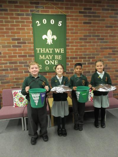 Our Year 4 School Council are Hugo, Lila, Edwin and Natalia