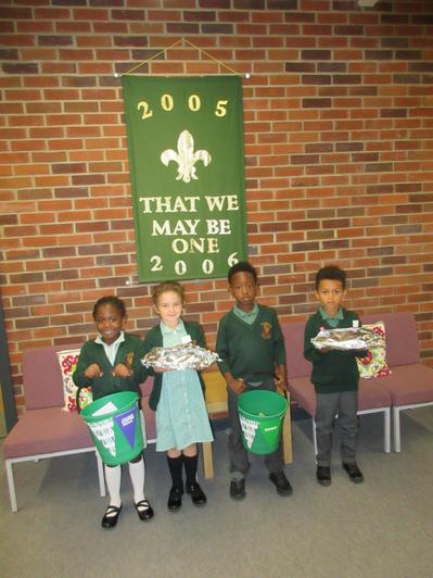 Our Year 1 School Council members are Naomi, Olivia, Caleb and Dexter