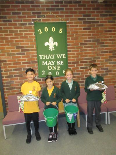 Our Year 3 School Council members are Leon, Muskaan, Amelia and Oliver