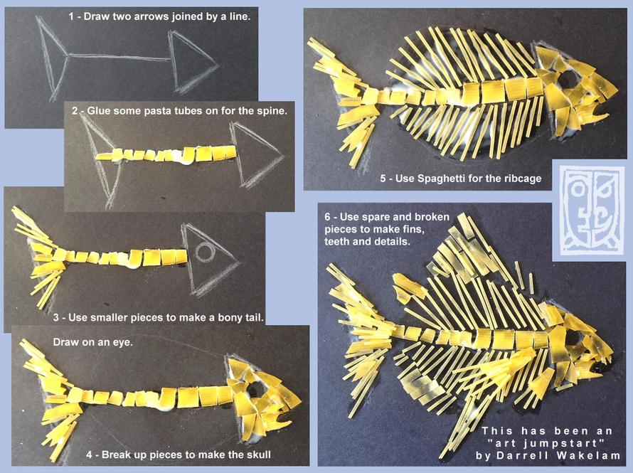 Pasta Fossil Fish - instructions