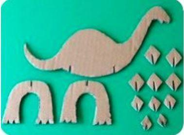 Slot-together cardboard dinosaur