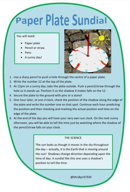 Paper Plate Sun Dial