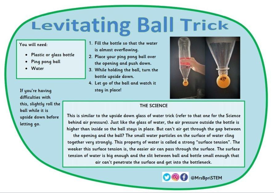 Levitating ball