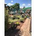 A great day creating a beautiful prayer garden