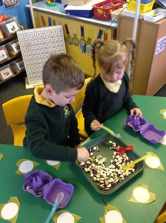 Carefully sorting the magic beans