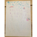 Wonderful letter formation and alphabet work