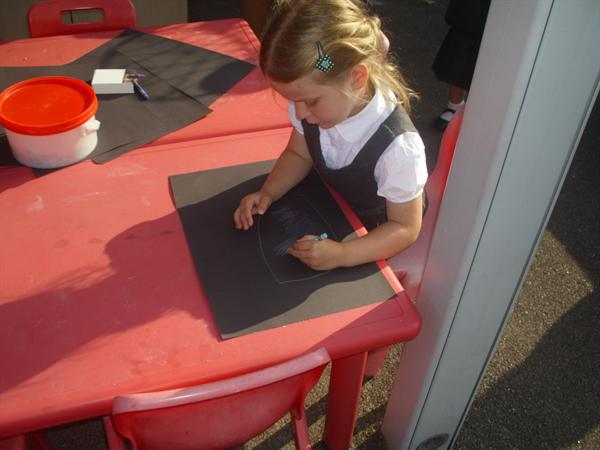 Beautiful chalk pictures