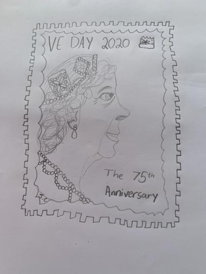 A stamp to celebrate VE Day.