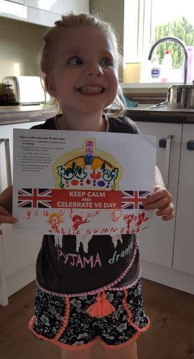 VE day design work