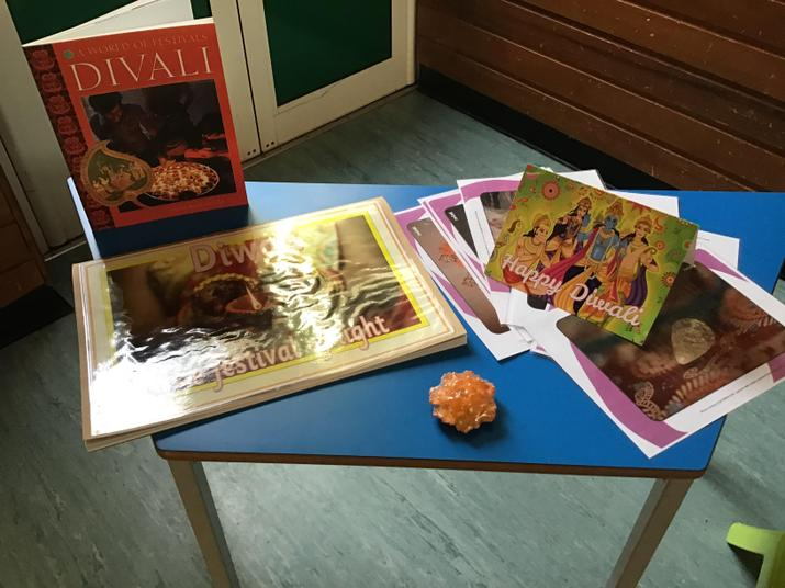 We learnt about how families celebrate Diwali.