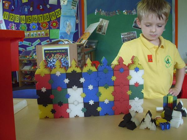 Look at our houses made out of foam blocks