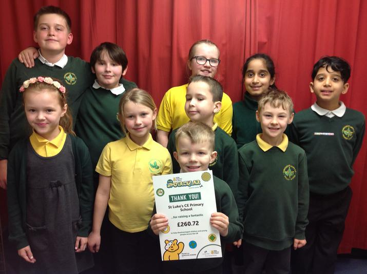 Our certificate from Children in Need