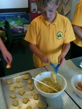 Making Tudor biscuits