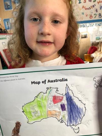 We labelled the map.