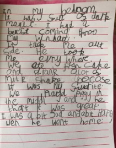 Amazing story writing and incredible handwriting