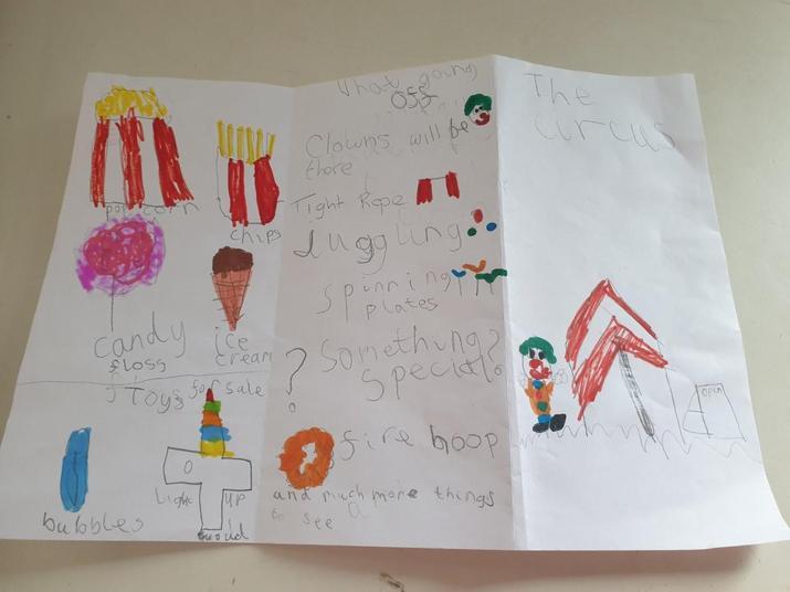 A wonderful circus leaflet!