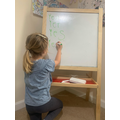 Fantastic letter formation on a whiteboard