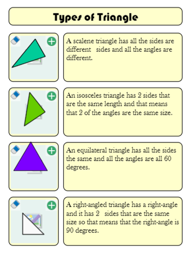Different triangles