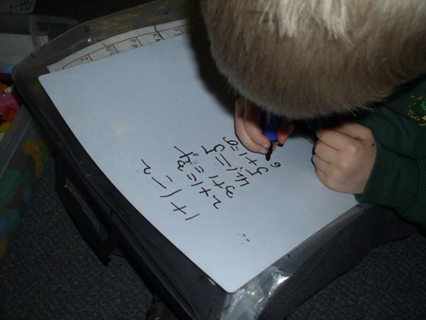 Working out the pattern using addition