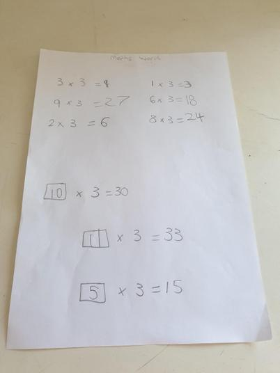 3 times table work!
