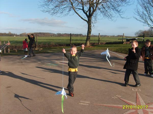 Windy weather for flying our kites