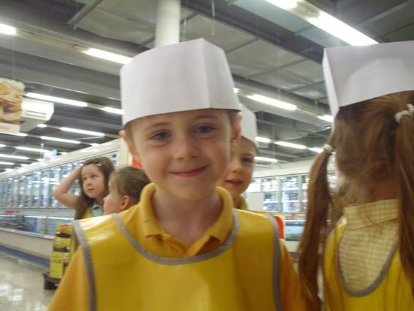 We had to wear a bakers hat!