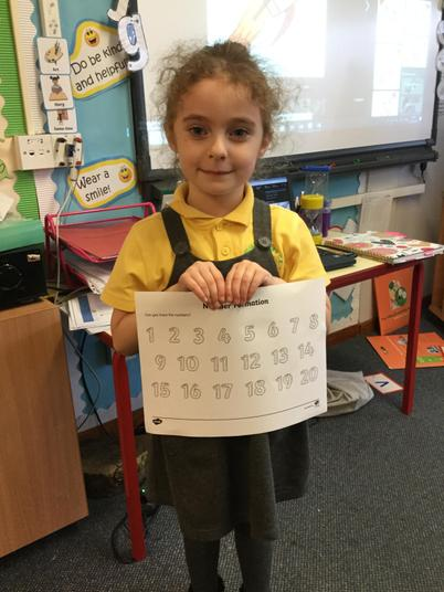We've been practising our number formation - well done!