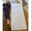A life size drawing and labelling of the body - Super!