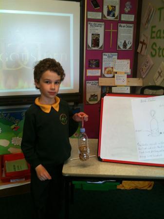 Luke's impressive bird feeder!