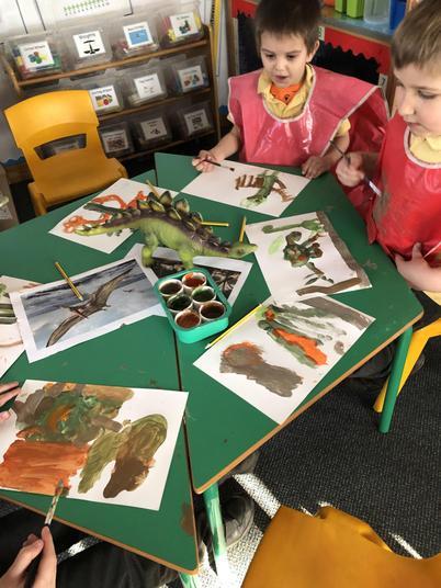 Can we paint a dinosaur?