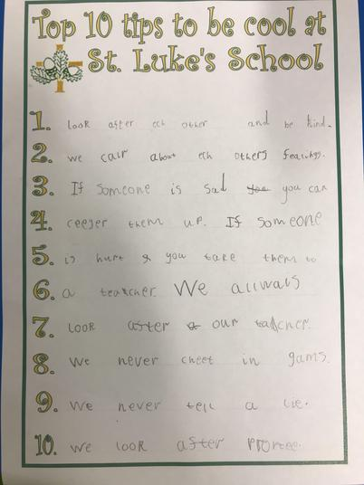 We had a go at writing our own rules.